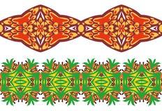 Ornamento floral linear. ilustração do vetor