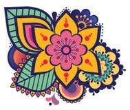 Ornamento floral oriental, estilo de Oriente Medio, colorido Libre Illustration
