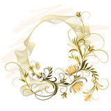 Ornamento floral oval Imagens de Stock