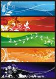Ornamento floral para o fundo Fotografia de Stock