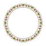 Ornamento floral redondo em um fundo branco imagens de stock