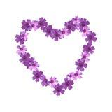 Ornamento floral sob a forma do coração Imagens de Stock