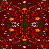 Ornamento floral sobre uma obscuridade - cor vermelha ilustração do vetor