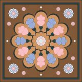 Ornamento floral tradicional con el corazón fotografía de archivo libre de regalías