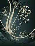 Ornamento floreale blu Fotografia Stock Libera da Diritti