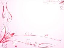 Ornamento floreale con le bolle Fotografia Stock