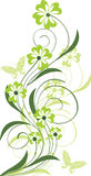 Ornamento floreale con le farfalle Fotografia Stock