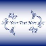 Ornamento floreale con un posto per testo illustrazione di stock