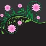 Ornamento floreale d'annata astratto immagini stock