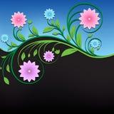 Ornamento floreale d'annata astratto fotografie stock