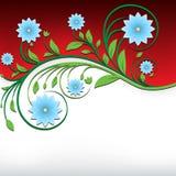 Ornamento floreale d'annata astratto fotografia stock