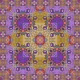 Ornamento floreale decorativo Può essere usato per le carte, le stampe della bandana, la progettazione della bandana, tovaglie illustrazione di stock