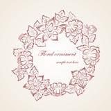 Ornamento floreale dell'elemento Fotografia Stock