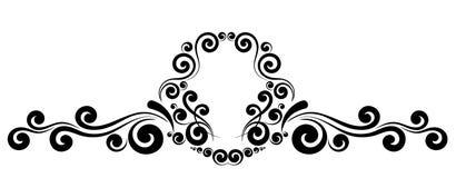 Ornamento floreale della struttura del monogramma d'annata del confine illustrazione di stock
