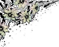Ornamento floreale della vaniglia angolare Immagini Stock