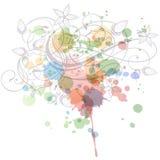 Ornamento floreale di calligrafia illustrazione vettoriale
