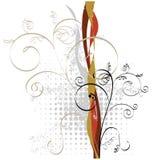 Ornamento floreale di Grunge illustrazione di stock