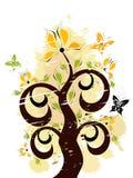 Ornamento floreale di Grunge Fotografia Stock