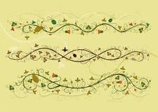 Ornamento floreale di rinascita illustrazione vettoriale