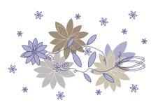 Ornamento floreale di vettore Immagini Stock Libere da Diritti