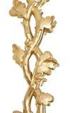 Ornamento FLOREALE dorato. Immagini Stock