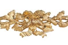 Ornamento FLOREALE dorato. Fotografie Stock Libere da Diritti