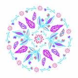 Ornamento floreale nel cerchio Stampa della primavera Immagini Stock Libere da Diritti