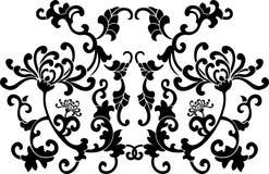 Ornamento floreale nero delle curve royalty illustrazione gratis