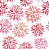 Ornamento floreale senza cuciture dell'acquerello Fotografie Stock Libere da Diritti