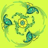 Ornamento floreale, stile indiano illustrazione di stock