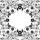 Ornamento floreale su fondo bianco Immagini Stock