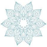Ornamento floreale su priorità bassa bianca Illustrazione Vettoriale