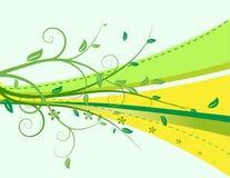 Ornamento Floristic da onda Imagem de Stock