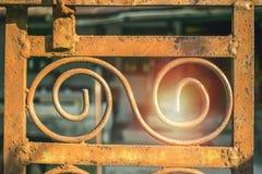 ornamento forjado do ferro Imagens de Stock