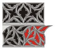 Ornamento gótico Foto de Stock Royalty Free