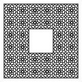Ornamento geométrico árabe baseado na arte árabe tradicional Mosaico muçulmano Telha turca, árabe em um fundo branco Foto de Stock