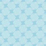 Ornamento geométrico azul claro Modelo inconsútil Fotografía de archivo libre de regalías