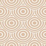 Ornamento geométrico bege e branco Teste padrão sem emenda ilustração do vetor