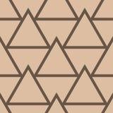 Ornamento geométrico beige y marrón Modelo inconsútil Foto de archivo libre de regalías