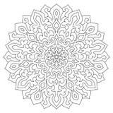 Ornamento geométrico circular Mandala redonda del esquema para la página que colorea Fotos de archivo libres de regalías