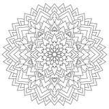 Ornamento geométrico circular Mandala redonda del esquema para la página que colorea Fotografía de archivo