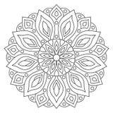 Ornamento geométrico circular Mandala redonda do esboço para a página do livro para colorir ilustração do vetor