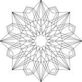 Ornamento geométrico da mandala do esboço Foto de Stock Royalty Free
