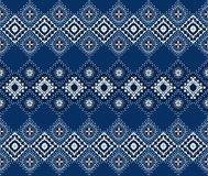 Ornamento geométrico del folclore de Ikat Textura étnica tribal del vector Modelo rayado inconsútil en estilo azteca libre illustration