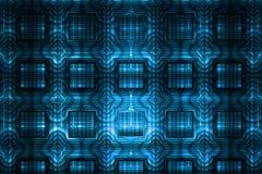 Ornamento geométrico detalhado abstrato no fundo preto Foto de Stock Royalty Free