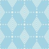 Ornamento geométrico do azul marinho e o branco Teste padrão sem emenda Foto de Stock