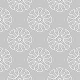 Ornamento geométrico gris y blanco Modelo inconsútil Fotos de archivo libres de regalías