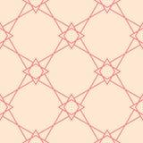 Ornamento geométrico Modelo inconsútil rojo y beige Imagenes de archivo