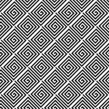 Ornamento geométrico negro en el fondo blanco Modelo inconsútil Imágenes de archivo libres de regalías