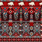 Ornamento geométrico para a cerâmica, papel de parede, matéria têxtil, Web, cartões Teste padrão étnico Ornamento da beira Projet ilustração do vetor